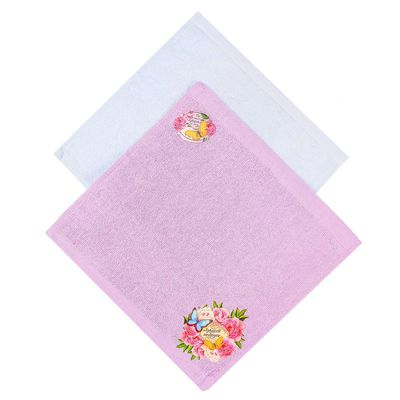 "Towels Collorista ""Best friend"" 30x30 - 2 PCs, 100% cotton, 350 gr/m2"