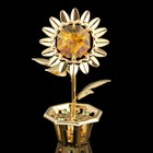 Сувенир «Цветок», 2×3,5×6 см, с кристаллами Сваровски