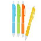 Ручка шариковая авт 0,5мм Vinson корпус МИКС Неон с резин держ стержень масляный синий