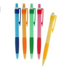 Ручка шариковая авт 0,5мм Vinson корпус МИКС NEW с резин держ стержень масляный синий