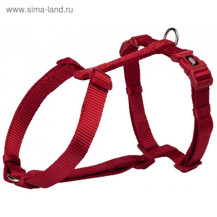 Шлейка-Н Trixie Premium, M–L: 50–75 см/20 мм, бордовый