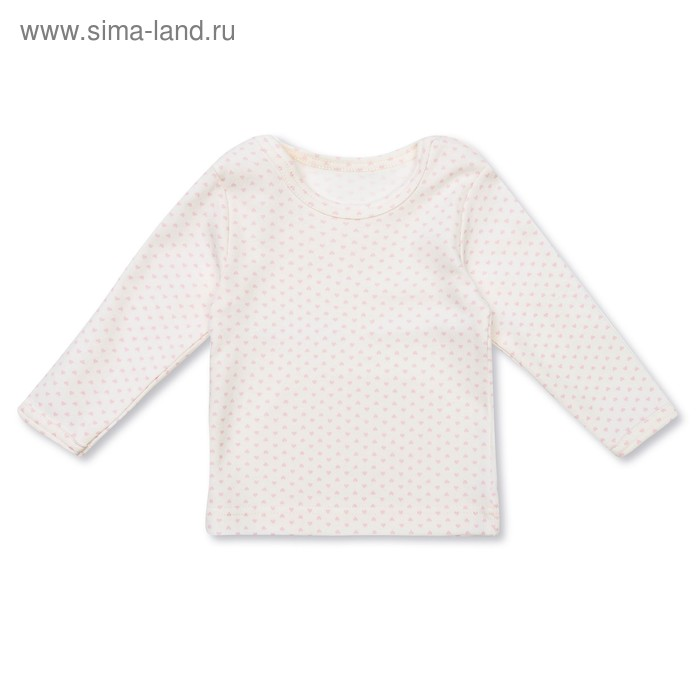 """Джемпер для девочки """"Полоски и сердечки"""", рост 68 см (44), цвет розовый/сливки"""