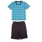 """Пижама для мальчика """"Серия"""", рост 116 см (60), цвет бирюзовый/антрацит  УНЖ006001н"""
