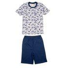 """Пижама для мальчика """"Серия"""", рост 110 см (56), цвет синий/серый  УНЖ006001н"""