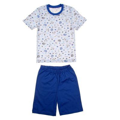 """Пижама для мальчика """"Серия"""", рост 98 см (52), цвет голубой  УНЖ006001н"""
