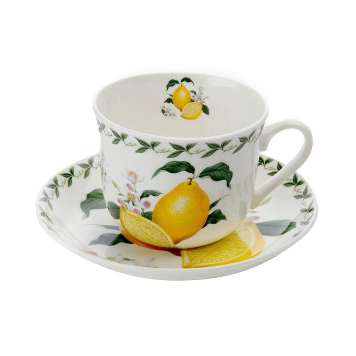 """Чашка с блюдцем """"Лимон"""""""
