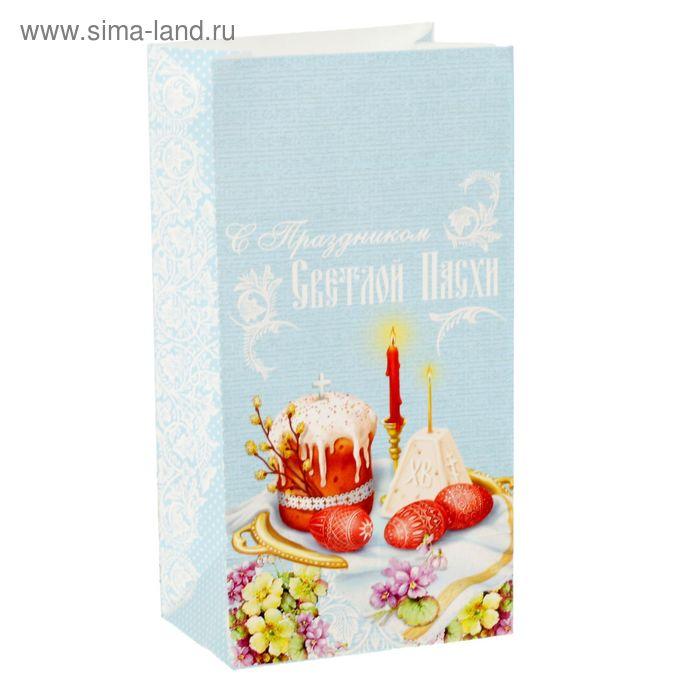 Пакет подарочный без ручек «Пасхальный стол»,10 х 19,5 х 7 см