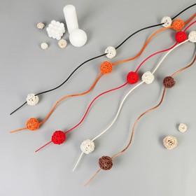 Декор тинги с шариками китте d-5 см 150 см (фасовка 5 шт, цена за 1шт), микс