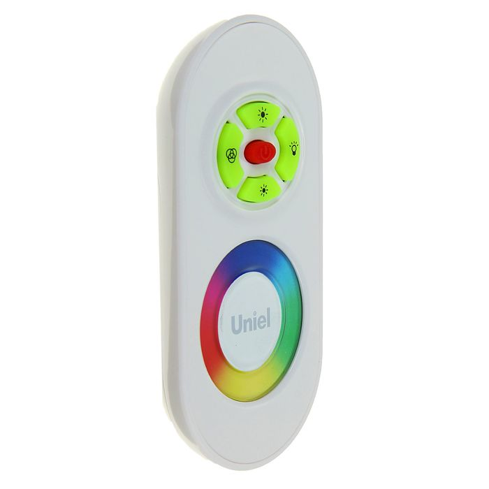 Контроллер Uniel, для светодиодных RGB источников света, 12/24 B с пультом ДУ 2.4 ГГц, белый