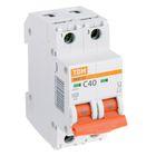 Выключатель автоматический TDM ВА47-29, 2п, 40 А, 4.5 кА, SQ0206-0097