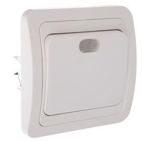 """Выключатель TDM """"Валдай"""", 10 А, 1 клавиша, с подсветкой, белый, SQ1804-0004"""