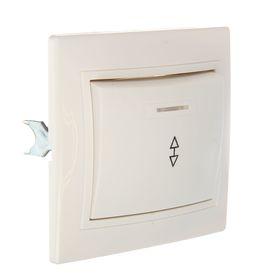 """Выключатель TDM """"Таймыр"""", 10 А, 1 клавиша на 2 направления, с подсветкой, белый, SQ1814-0008"""