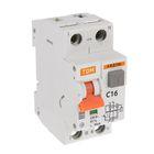 Дифференциальный автомат TDM АВДТ 63, 2п, 16 А, 30 мА, SQ0202-0002