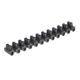 Зажим винтовой TDM ЗВИ-5, 0.75-4 мм2, 12 пар, полипропилен, черный, SQ0510-0032 Ош