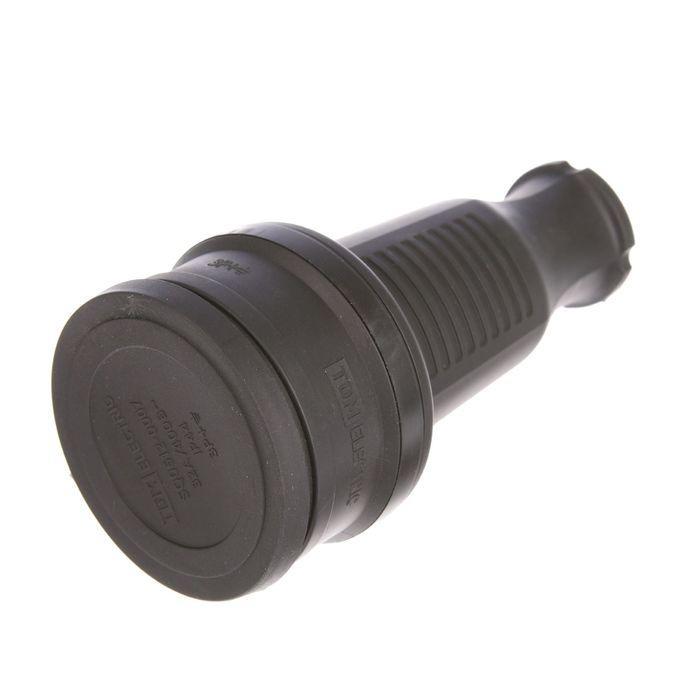 Розетка TDM 3Р+РЕ, IP44, 32 А, 380 В, с заглушкой, каучук, SQ0612-0007