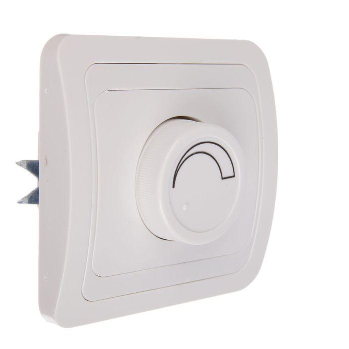 """Светорегулятор TDM """"Валдай"""", 600 Вт, скрытой установки, поворотный, белый"""