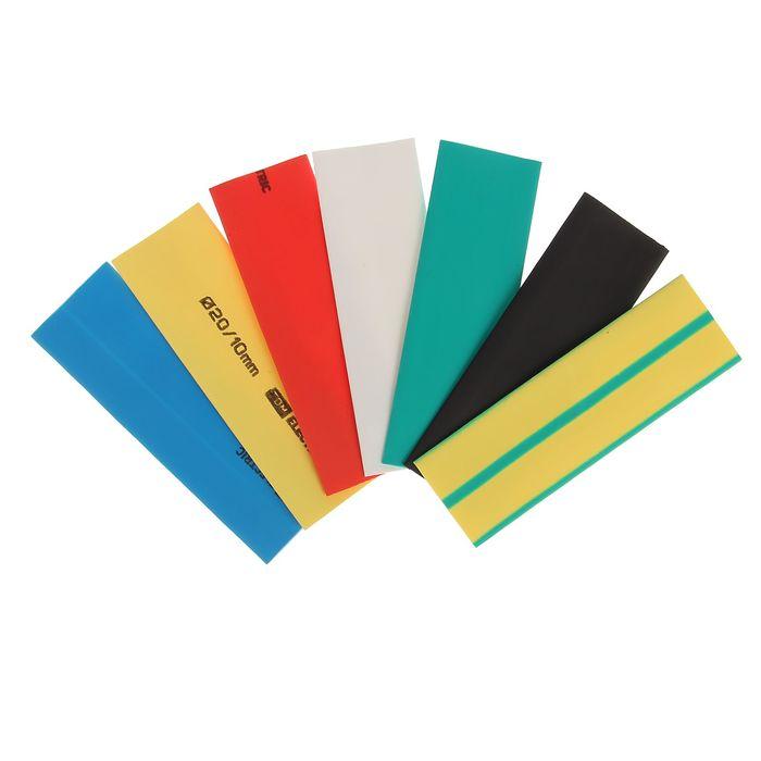 Термоусаживаемая трубка TDM ТУТнг, 20/10 набор, 7 цветов по 3 шт. 100 мм, SQ0518-0509