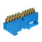 """Шина """"N"""" нулевая TDM, 6x9 мм, 10 групп, с изолятором, стойка бол., SQ0801-0028"""