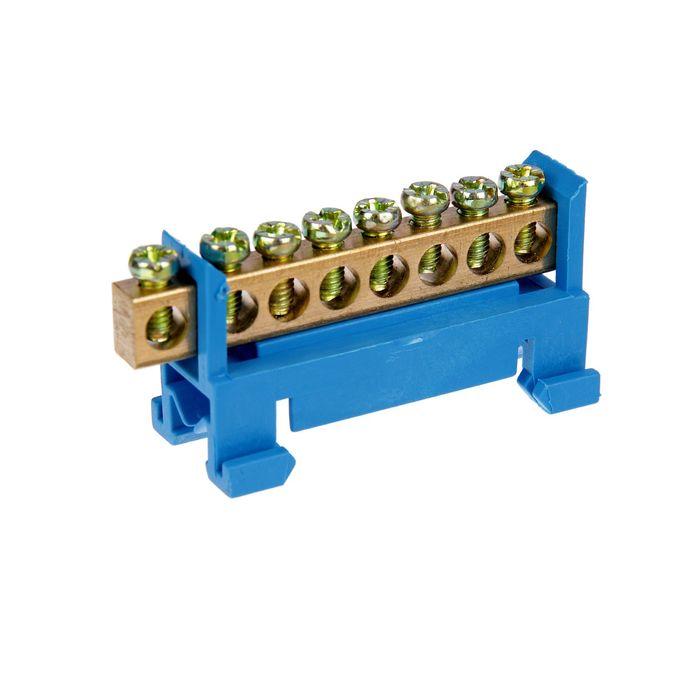 """Шина """"N"""" нулевая TDM, 6x9 мм, 8 групп, с изолятором, стойка мал., SQ0801-0012"""