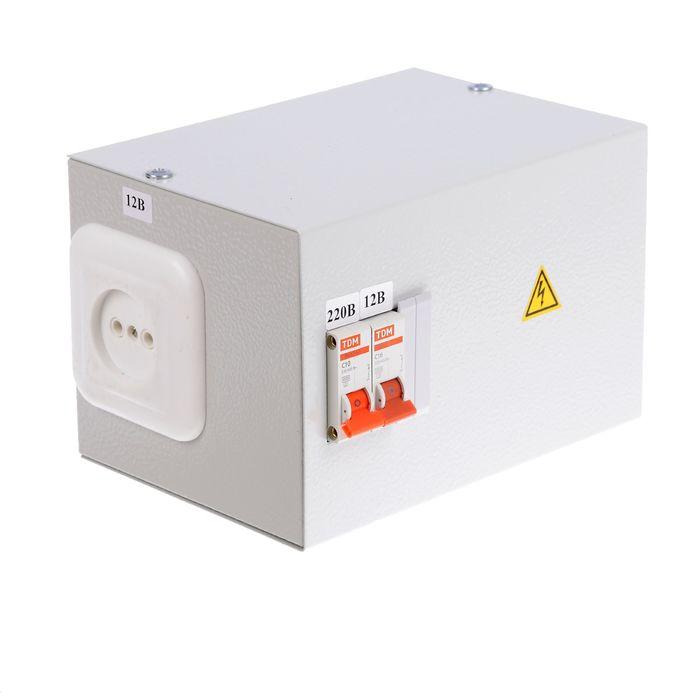 Ящик с трансформатором понижающим TDM ЯТП-0,25 220/12-2авт., SQ1601-0001