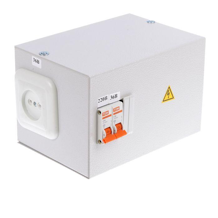 Ящик с трансформатором понижающим TDM ЯТП-0,25 220/36-2авт., SQ1601-0005