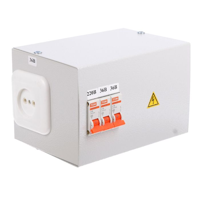 Ящик с трансформатором понижающим TDM ЯТП-0,25 220/36-3авт., SQ1601-0006