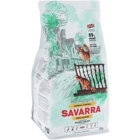 Сухой корм  SAVARRA Adult Cat Hairball  для взрослых кошек, утка/рис, 2 кг