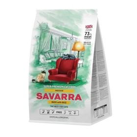 Сухой корм SAVARRA Indor Adult Cat для взрослых кошек, утка/рис, 15 кг