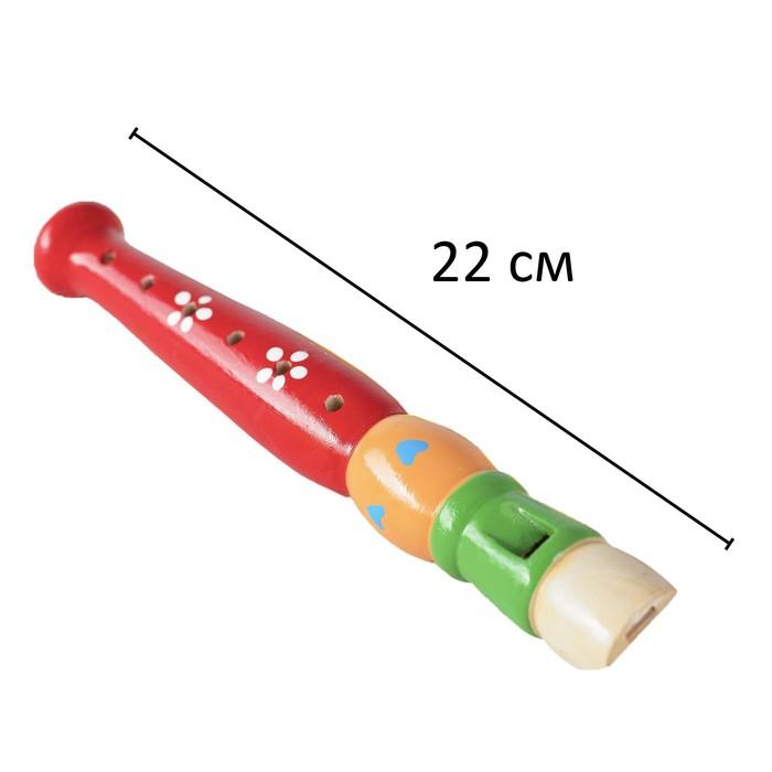 """Музыкальная игрушка """"Дудочка средняя"""", цвета МИКС"""