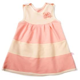 Сарафан для девочки, рост 62-68 см, цвет розовый/молочный M022101F68_М