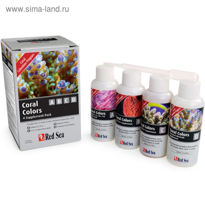 Добавка Coral Colors ABCD 4x100мл