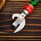 Нож консервный Хохлома клепка 160мм, бук, сталь твердая коррозионностойкая