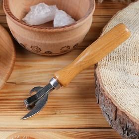 Нож консервный, лак сварной никель 160 мм, бук экстра, сталь твёрдая коррозионностойкая