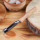 Нож для сердцевины яблока 185х17мм, бук, сталь твердая коррозионностойкая