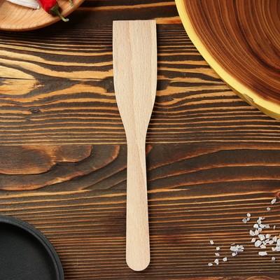 Лопатка кухонная 260х50х3 мм, бук