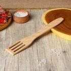 Лопатка кухонная прорезь 260х50х3мм, бук