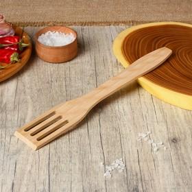 Лопатка кулинарная с отверстиями, 26 × 5 см, цвет бук