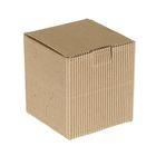 Коробка крафт из рифлёного картона, 10,5 х 10,5 х 11,5 см