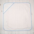 Простынка для крещения для мальчика, размер 78*78 см, цвет белый/голубой 00102-08