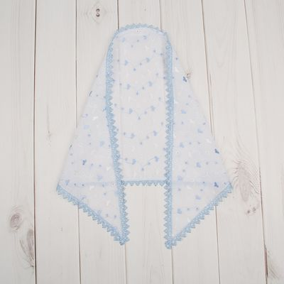 Косынка, рост 56-58 см, цвет белый/голубой 00208-01_М