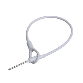 Тросик крепёжный 'Хвостик' для жестких датчиков, цвет белый Ош