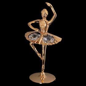Сувенир «Балерина с поднятой рукой», 6х6х11 см, с кристаллами Сваровски