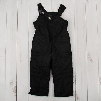 Полукомбинезон для мальчика, рост 134 см, цвет чёрный ПКМ-5/34