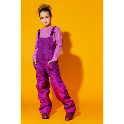 Полукомбинезон для девочки, рост 146 см, цвет фиолетовый ПКД-5/36