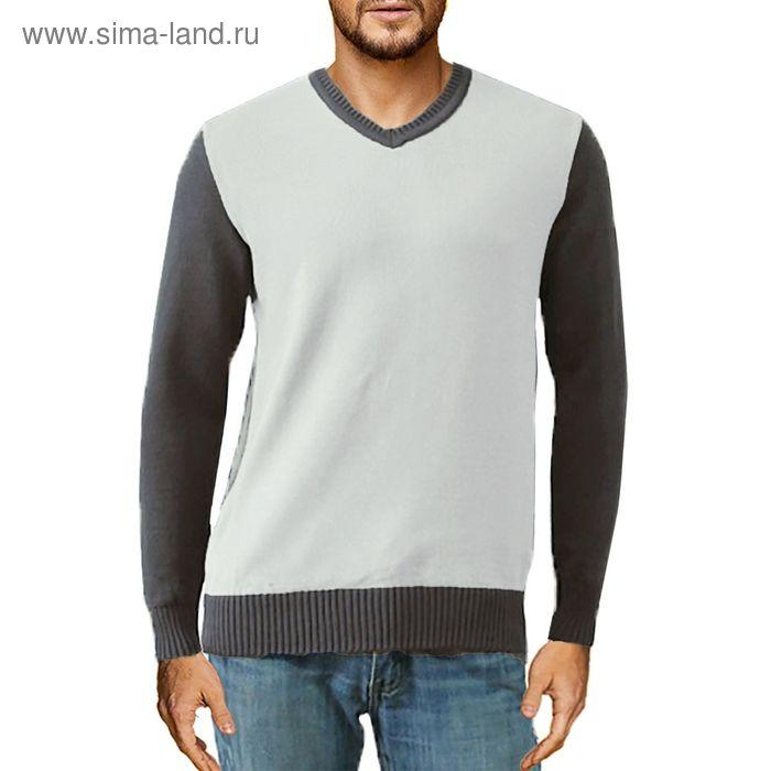 Джемпер мужской Д-13v темно-серый/серый, рост 176-182, р-р 50