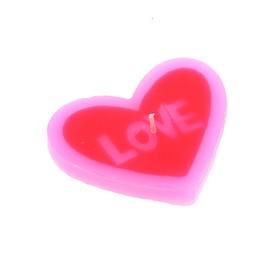 Свеча восковая 'Ближе к сердцу', цвет розовый Ош