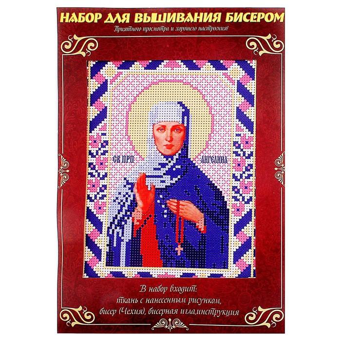 """Вышивка бисером """"Святая Преподобная Ангелина Сербская"""", размер основы 21,5×29 см"""