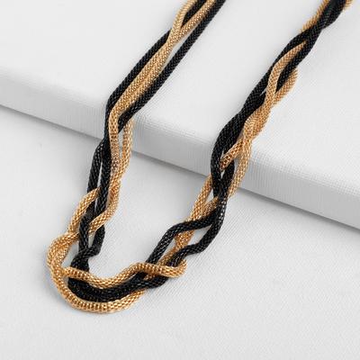 "Beads 2 strands of ""Transformer"" (several ways socks), color black and gold, 118cm"