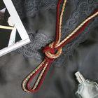 """Бусы 2 нити """"Трансформер"""" (несколько способов носки), цвет красно-золотой, 118 см - фото 7469814"""