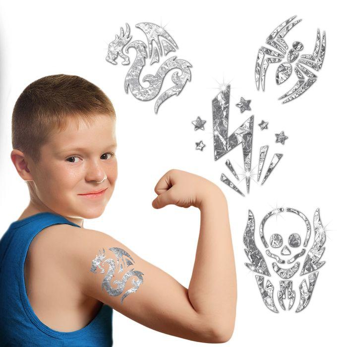 Набор для создания тату фольгой №2 + трафареты, лист страз